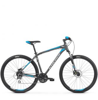 Велосипед Kross Hexagon 5.0 (2019) Graphite/Silver/Blue Matte