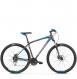 Велосипед Kross Hexagon 5.0 (2019) Graphite/Silver/Blue Matte 1