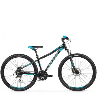 Велосипед Kross Lea 5.0 (2019) Black/Turquoise Glossy