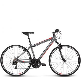 Велосипед Kross Evado 1.0 (2019) Graphite/Red Matte
