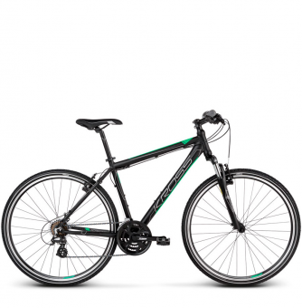 Велосипед Kross Evado 2.0 (2019) Black/Green Matte