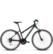 Велосипед Kross Evado 3.0 (2019) Black/Blue Matte