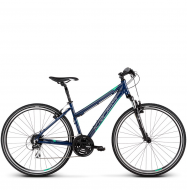Велосипед Kross Evado 3.0 (2019) Navy Blue/Green Glossy