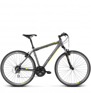 Велосипед Kross Evado 3.0 (2019) Graphite/Lime Matte