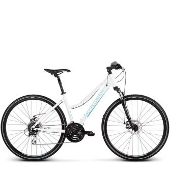 Велосипед Kross Evado 4.0 (2019) White/Blue Glossy