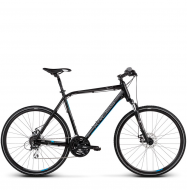 Велосипед Kross Evado 4.0 (2019) Black/Blue Matte