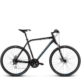 Велосипед Kross Evado 4.0 (2019) Black/Blue Matte