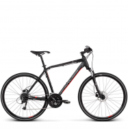 Велосипед Kross Evado 5.0 (2019) Black/Red Matte