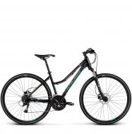 Велосипед Kross Evado 5.0 (2019) Black/Turquoise Glossy