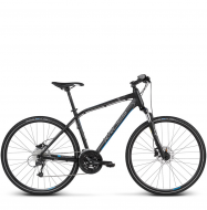 Велосипед Kross Evado 6.0 (2019) Black/Blue Matte