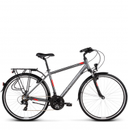 Велосипед Kross Trans 1.0 (2019) Graphite/Red/White Matte
