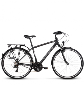 Велосипед Kross Trans 1.0 (2019) Black/White Matte
