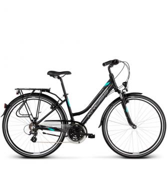 Велосипед Kross Trans 2.0 (2019) Black/Mint/Silver Matte