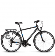 Велосипед Kross Trans 2.0 (2019) Black/Blue/Silver Matte