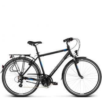 Велосипед Kross Trans 2.0 (2019) Black/Blue/Silver Matte