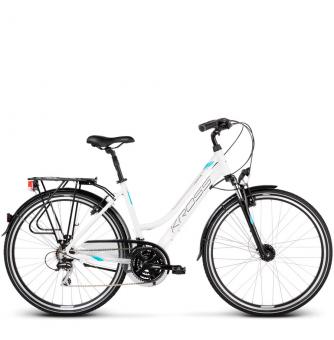 Велосипед Kross Trans 3.0 (2019) White/Sky Blue/Black Glossy
