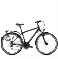 Велосипед Kross Trans 3.0 (2019) Black/Blue/Silver Matte