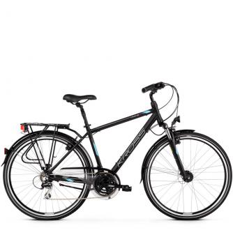 Велосипед Kross Trans 3.0 (2019) Black/Blue/Silver Matte