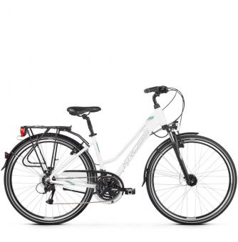 Велосипед Kross Trans 4.0 (2019) White/Green/Graphite Glossy