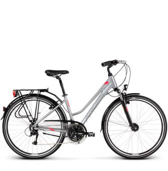 Велосипед Kross Trans 4.0 (2019) Silver/Graphite Glossy
