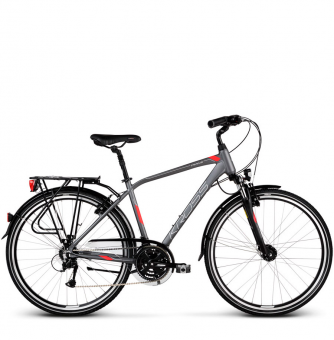 Велосипед Kross Trans 4.0 (2019) Graphite/Red/Silver Matte