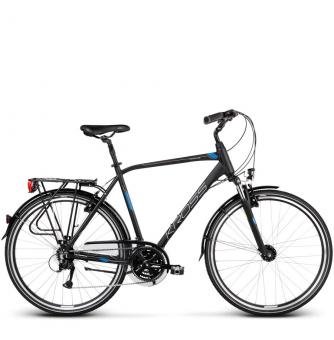 Велосипед Kross Trans 4.0 (2019) Black/Blue/Silver Matte