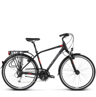 Велосипед Kross Trans 5.0 (2019) Black/Red/Silver Matte