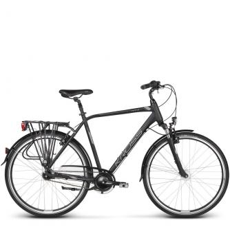 Велосипед Kross Trans 6.0 (2019) Graphite/Blue/Silver Matte