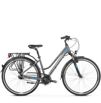 Велосипед Kross Trans 6.0 (2019) Graphite/Blue /Silver Matte