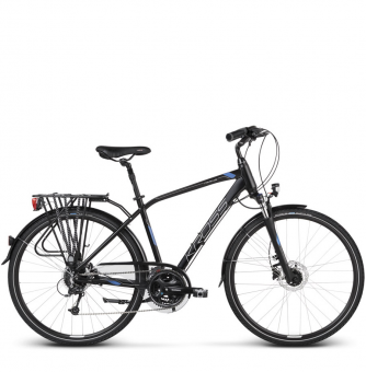 Велосипед Kross Trans 7.0 (2019) Black/Blue/Silver Matte