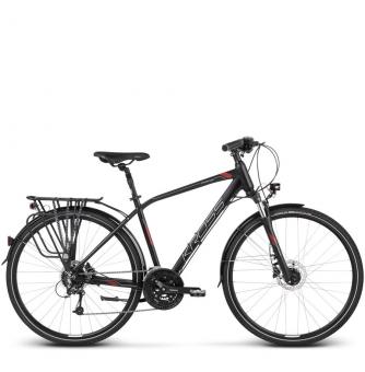 Велосипед Kross Trans 8.0 (2019) Black/Burgundy/Silver Matte