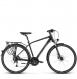 Велосипед Kross Trans 8.0 (2019) Black/Burgundy/Silver Matte 1