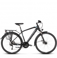 Велосипед Kross Trans 10.0 (2019) Black/Blue/Silver Matte