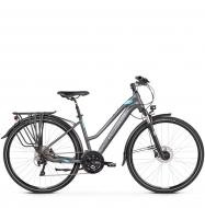 Велосипед Kross Trans 10.0 (2019) Graphite/Blue/Silver Matte