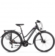 Велосипед Kross Trans 11.0 (2019) Black/Violet/Silver Matte