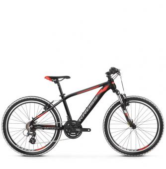 "Подростковый велосипед Kross Level JR 2.0 24"" (2019) Black/Red/Silver Matte"