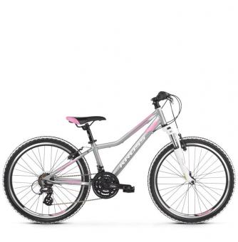 "Подростковый велосипед Kross Lea JR 2.0 24"" (2019) Silver/Pink/White Matte"