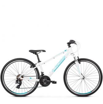 "Подростковый велосипед Kross Evado JR 1.0 26"" (2019) White/Turquoise/Blue Glossy"