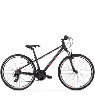 "Подростковый велосипед Kross Evado JR 1.0 26"" (2019) Black/Red/Silver Matte"
