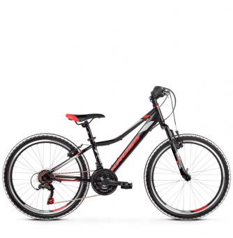 "Подростковый велосипед Kross Hexagon JR 1.0 24"" (2019) Black/Red/Silver Glossy"