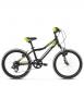 "Детский велосипед Kross Level Mini 20"" (2019) Black/Lime/Silver Glossy 1"