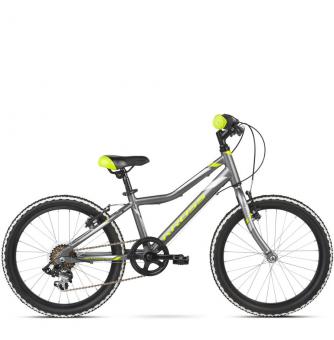 "Детский велосипед Kross Hexagon Mini 20"" (2019) Graphite/Lime/Silver Glossy"