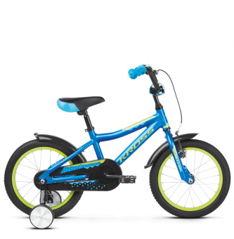 "Детский велосипед Kross Racer 4.0 16"" (2019) Blue/Lime Glossy"