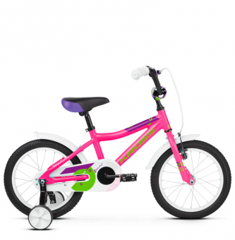 "Детский велосипед Kross Mini 16"" (2019) Pink/Green Glossy"