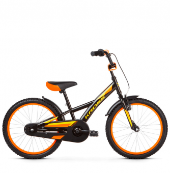 "Детский велосипед Kross Racer 20"" (2019) Black/Yellow/Orange Glossy"