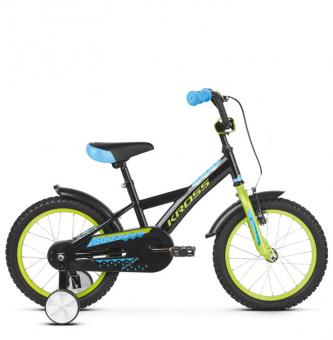 "Детский велосипед Kross Racer 16"" (2019) Black/Lime/Blue Glossy"
