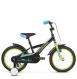 "Детский велосипед Kross Racer 16"" (2019) Black/Lime/Blue Glossy 1"