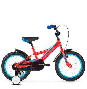 "Детский велосипед Kross Racer 16"" (2019) Red/Blue Glossy"
