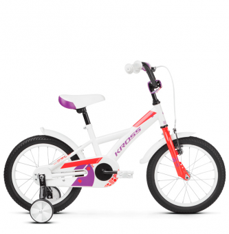"Детский велосипед Kross Mini 16"" (2019) White/Red/Violet Glossy"