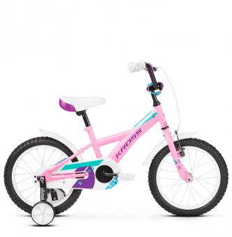 "Детский велосипед Kross Mini 16"" (2019) Pink/Violet/Turquoise Glossy"